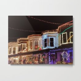 34th Street Christmas Lights | Baltimore, MD | Hampden Metal Print