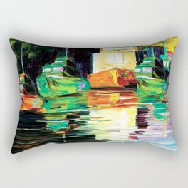 Lake at night Rectangular Pillow