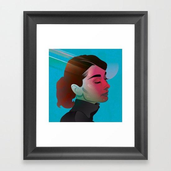 Classy- Audrey Hepburn Framed Art Print