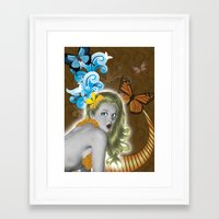 pinup Framed Art Prints featuring Pinup by Sarah Churchill