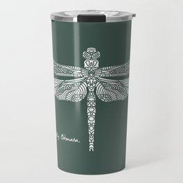 White Dragonfly Odonata Travel Mug