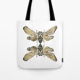 Summer Cicada – Black & Gold Palette Tote Bag