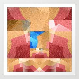 Retro Abstract Meditation NO. 4 Art Print