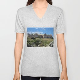 Newport, Rhode Island Mansions - Doris Duke's Rough Point - by Jeanpaul Ferro Unisex V-Neck