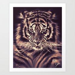 Strokes & Stripes Art Print