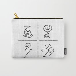 Love, Peace, wisdom and  compassion Symbols Carry-All Pouch