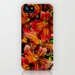 Pretty Red Flowers iPhone Case