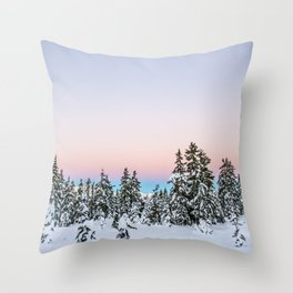 Alpen Glow Throw Pillow