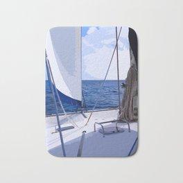 Sailing Winds - Sailing the Caribbean Bath Mat