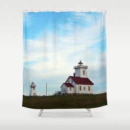 Wood Islands Lighthouse Compound Shower Curtain