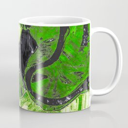 The Mississippi river flows after the US Army Corps of Engineers opened the Morganza Spillway Coffee Mug