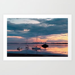 Sunset in Boston Art Print