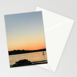 Paddleboarder at sunset Stationery Cards
