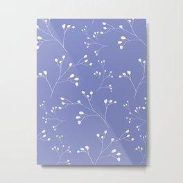 Violet floral pattern Metal Print