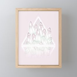 Crystals - Pink Framed Mini Art Print