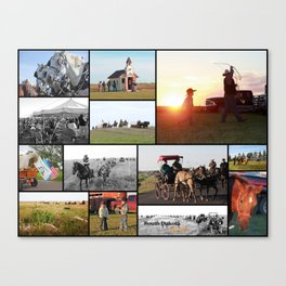 Trail Ride Collage 2014 Canvas Print