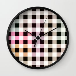 Patchwork Striped Checkerboard Gradient Wall Clock