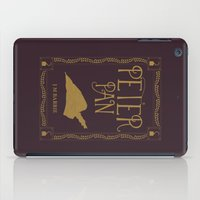 peter pan iPad Cases featuring Peter Pan Book Cover by Abbie Imagine