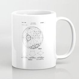 Buckminster Fuller 1961 Geodesic Structures Patent Coffee Mug