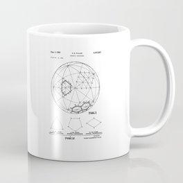Buckminster Fuller 1961 Geodesic Structures Patent Coffee Mug