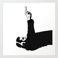 Kittappa Series #1 - Shooter (no ink splatter-original) Art Print