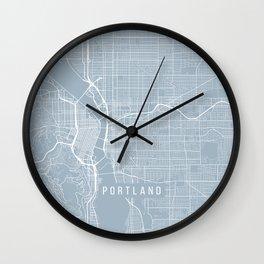 Portland Map, USA - Slate Wall Clock