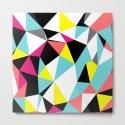 Colorful bright geometrical triangles print by fuzzyfox85