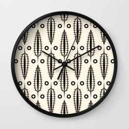 "Art Deco . ""Delicate leaves "". Wall Clock"