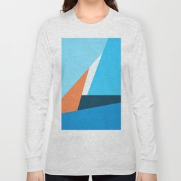 Minimalism Geometric Abstract Pattern Long Sleeve T-shirt