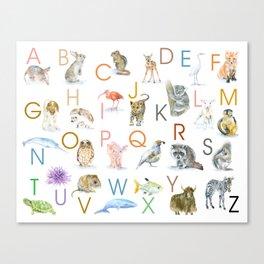 Animal Alphabet ABCs Poster Canvas Print