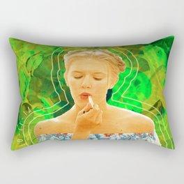 Lolita in Green Rectangular Pillow