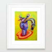 inner demons Framed Art Prints featuring Inner Demons by Michael Anthony Alvarez