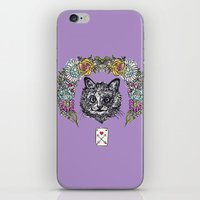cheshire cat iPhone & iPod Skins featuring Cheshire by minniemorrisart