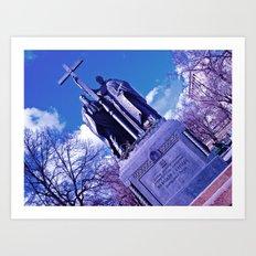 Bluish monument Art Print