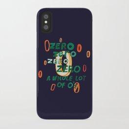Zero Zero Zero iPhone Case