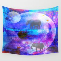 paradise Wall Tapestries featuring paradise by haroulita
