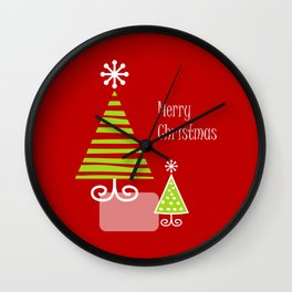 Merry Red Wall Clock