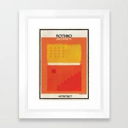 Rothko+legorreta Framed Art Print