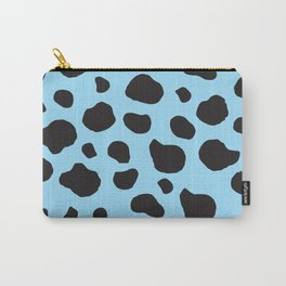 Animal Print (Cow Print), Cow Spots - Blue Black  Carry-All Pouch
