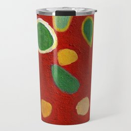 Scattered Things over Red Travel Mug