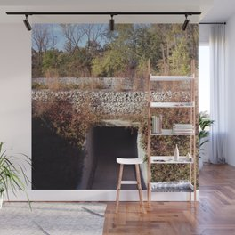Hundred Acre Park Gabion Wall Wall Mural