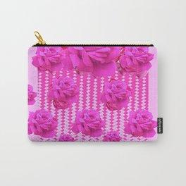 MODERN PINK ART CERISE PINK ROSE GARDEN ABSTRACT Carry-All Pouch
