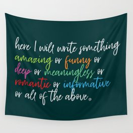 Write Something... Wall Tapestry