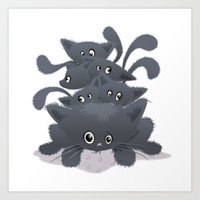 kittens Art Prints featuring Kittens ♥ by NanaO