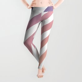 Soft pastel abstract lines Leggings