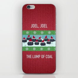 Lump of Coal / Christmas Sweater iPhone Skin