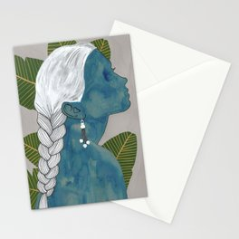 banana leaves Stationery Cards