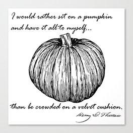 Thoreau's Pumpkin Canvas Print