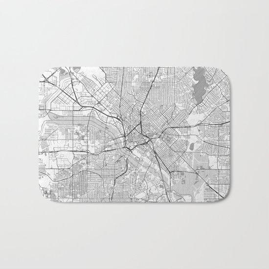 Dallas Map Line Bath Mat
