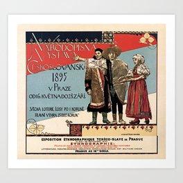Czechoslav ethnographic exposition vintage ad Art Print